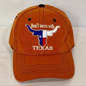 Snap Accessories - Texas Longhorn Snap Back Cap Don't Mess w Texas